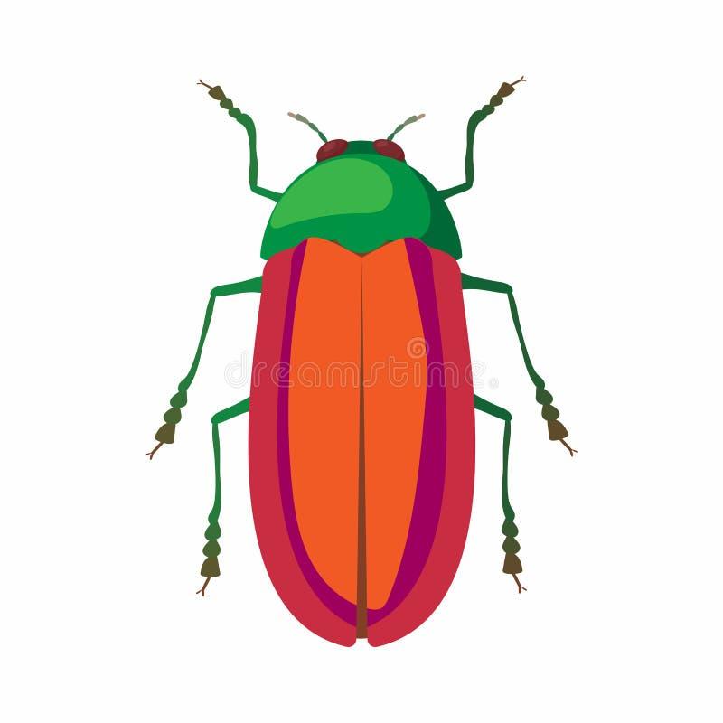 Icono del insecto, estilo de la historieta stock de ilustración
