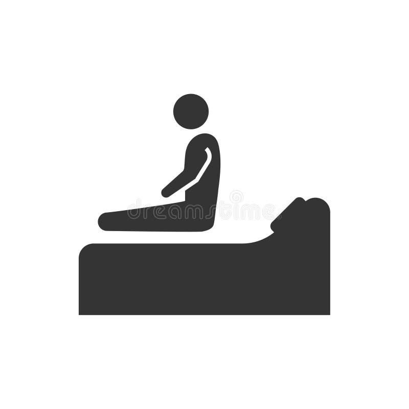 Icono del insomnio ilustración del vector