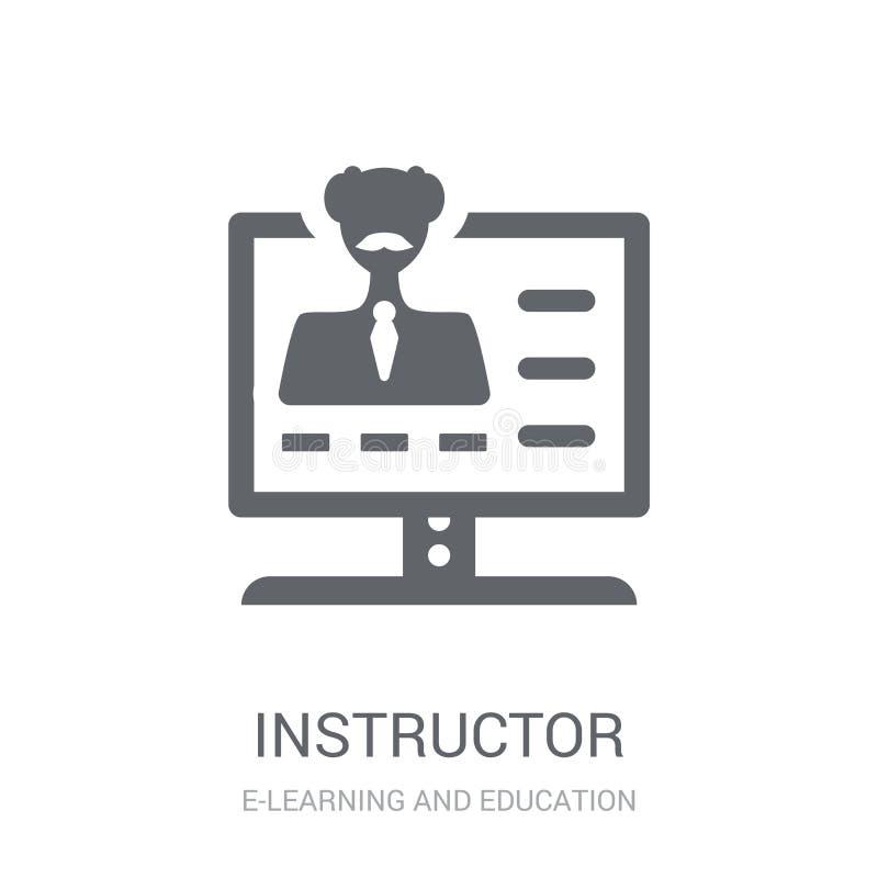 Icono del instructor  stock de ilustración