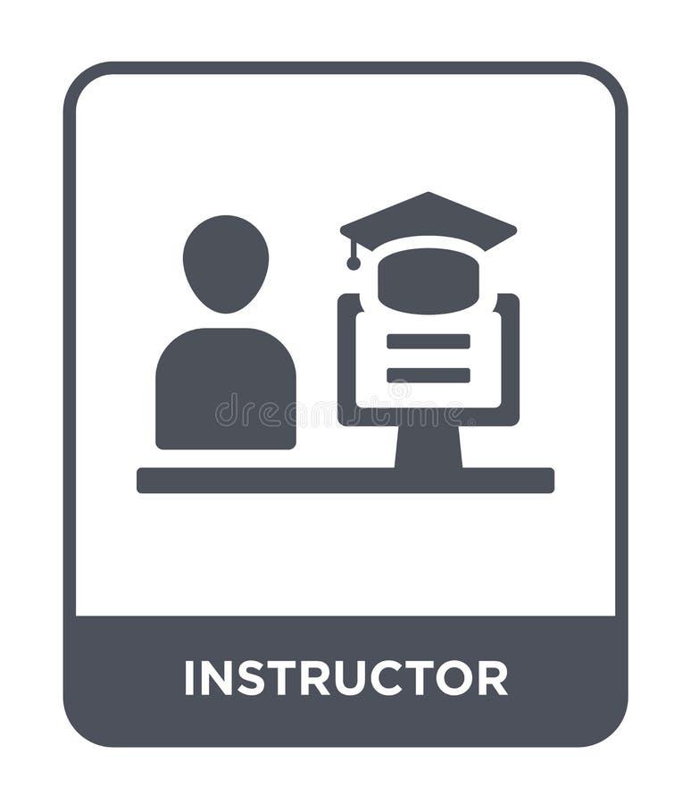 icono del instructor en estilo de moda del diseño icono del instructor aislado en el fondo blanco icono del vector del instructor stock de ilustración