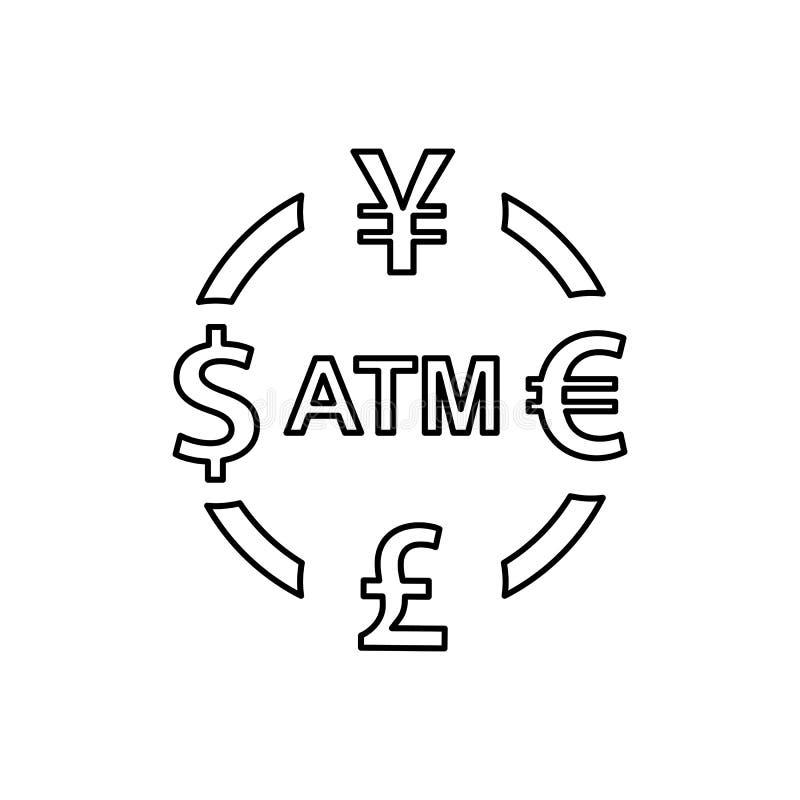 Icono del intercambio de moneda E ilustración del vector