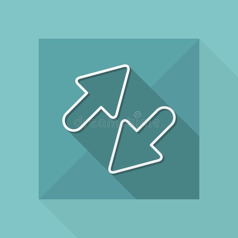 Icono del intercambio - serie fina stock de ilustración