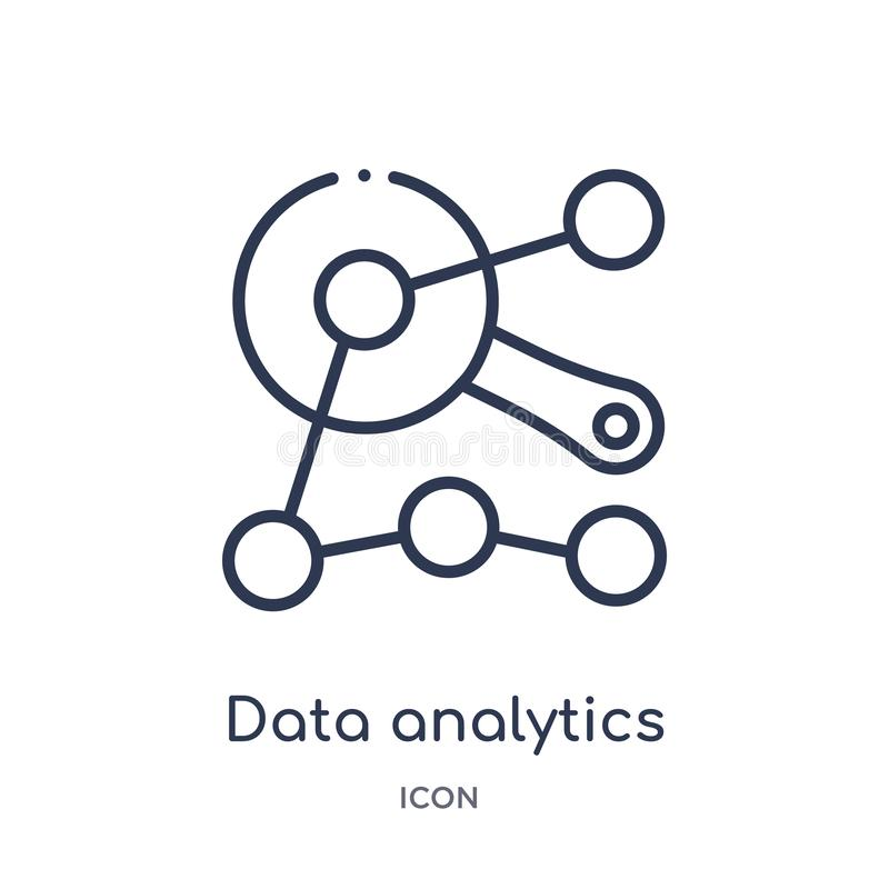 icono del interfaz del analytics de los datos de la colección del esquema de la interfaz de usuario Línea fina icono del interfaz ilustración del vector
