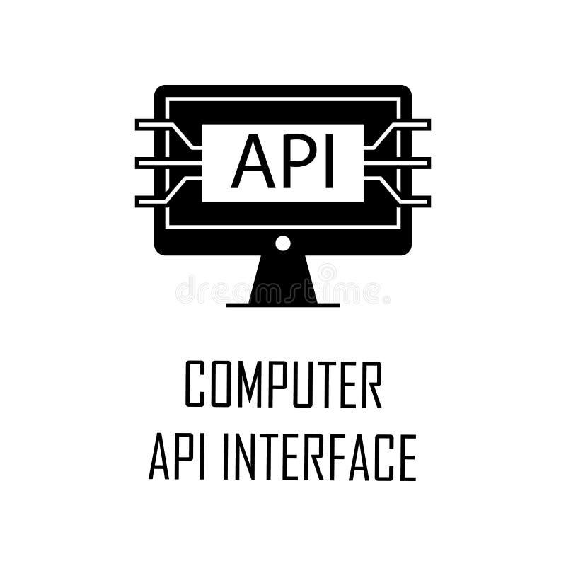 icono del interfaz del api del ordenador Elemento del desarrollo web para los apps móviles del concepto y del web El icono detall stock de ilustración