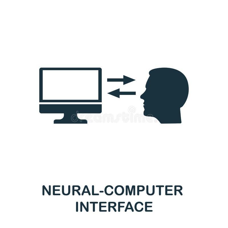 Icono del interfaz del De los nervios-ordenador Diseño superior del estilo de la colección futura de los iconos de la tecnología  ilustración del vector