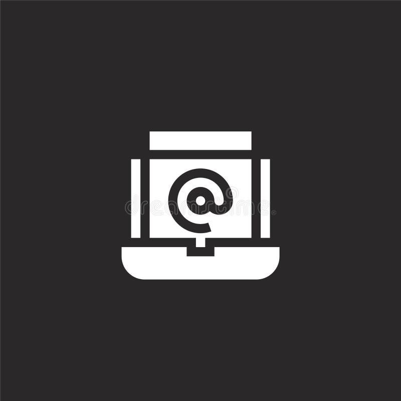 Icono del interfaz Icono llenado del interfaz para el diseño y el móvil, desarrollo de la página web del app icono del interfaz d stock de ilustración