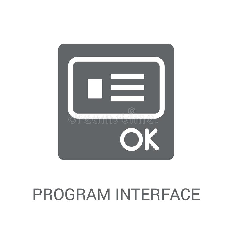 Icono del interfaz del programa  ilustración del vector