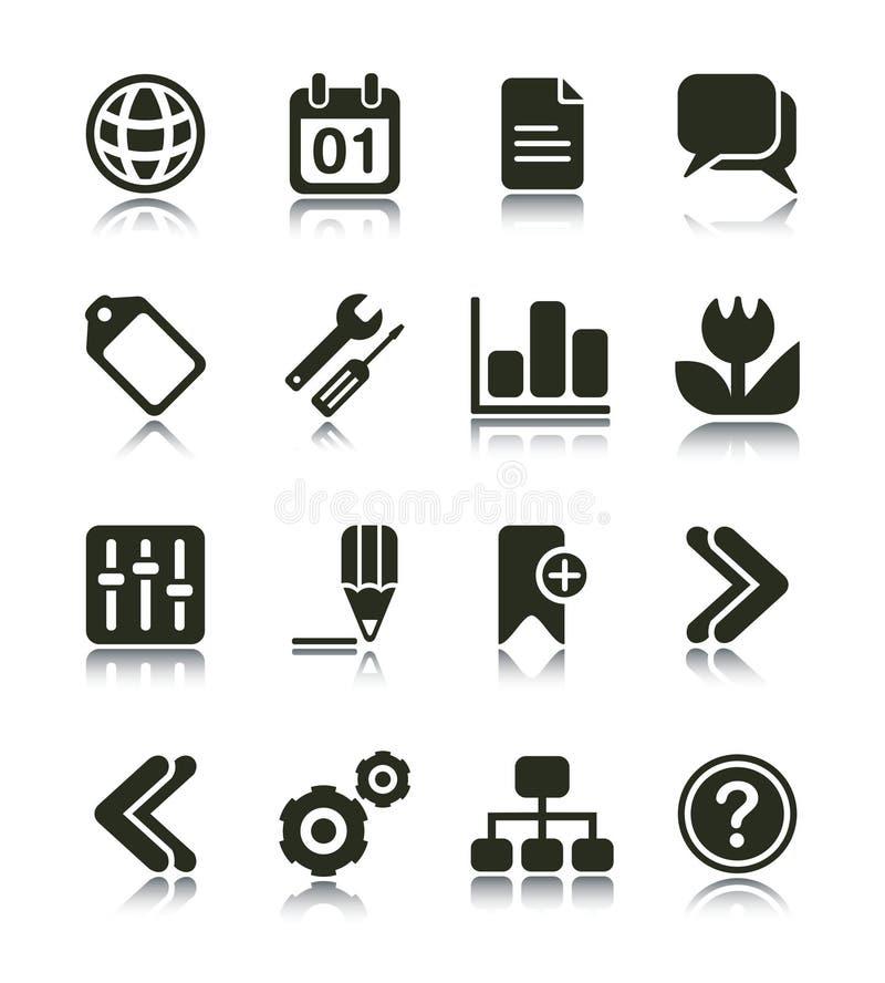 Icono del Internet y del Web stock de ilustración