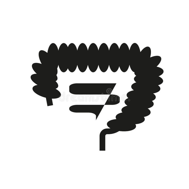 Icono del intestino  ilustración del vector