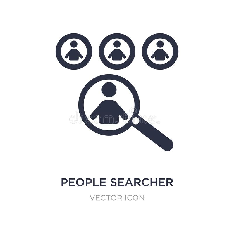icono del investigador de la gente en el fondo blanco Ejemplo simple del elemento del concepto de la gente libre illustration