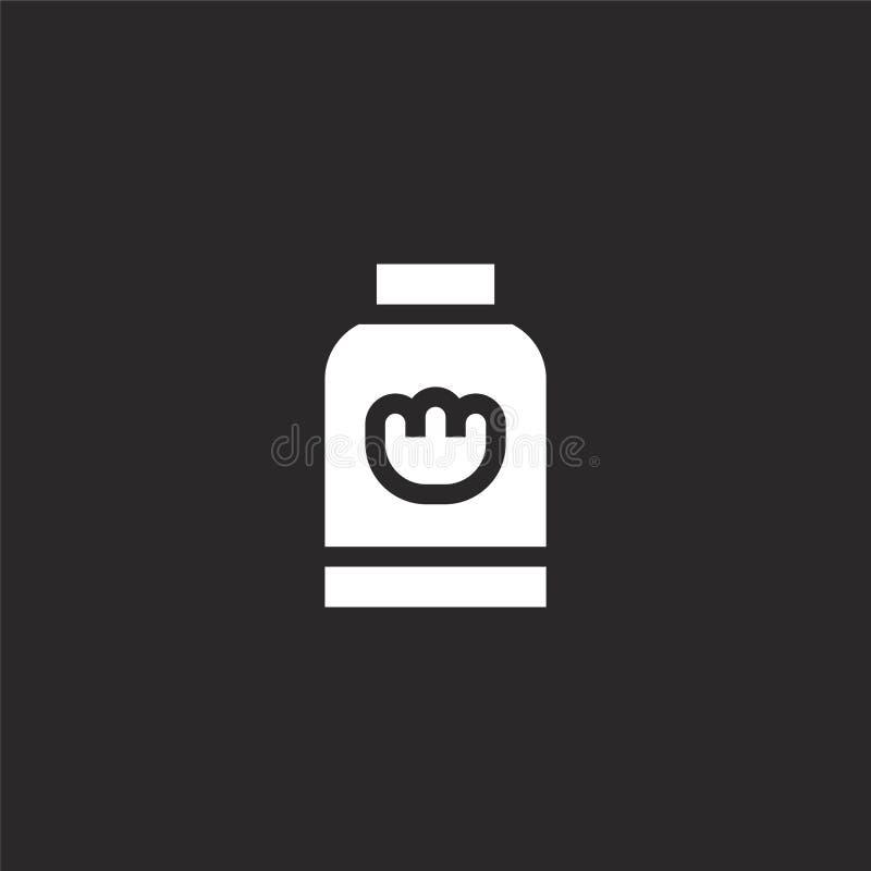 Icono del JAB?N Icono llenado del jabón para el diseño y el móvil, desarrollo de la página web del app el icono del jabón de la c libre illustration