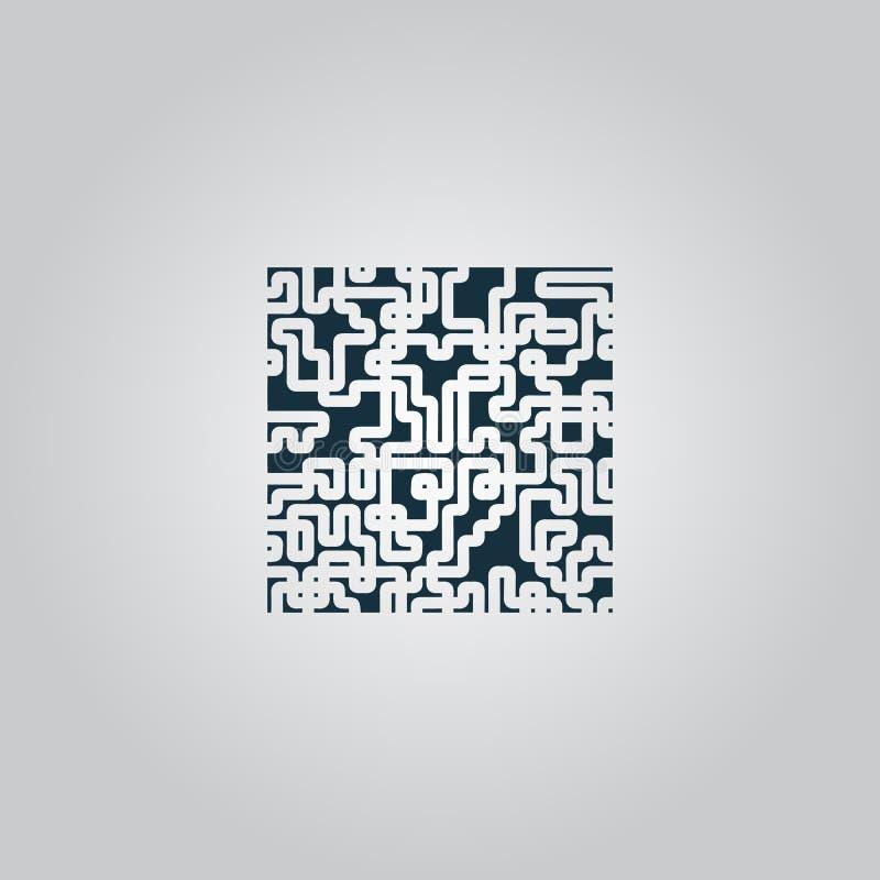 Icono del jeroglífico del rompecabezas del laberinto libre illustration