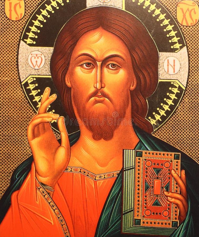 Icono del Jesucristo fotos de archivo libres de regalías