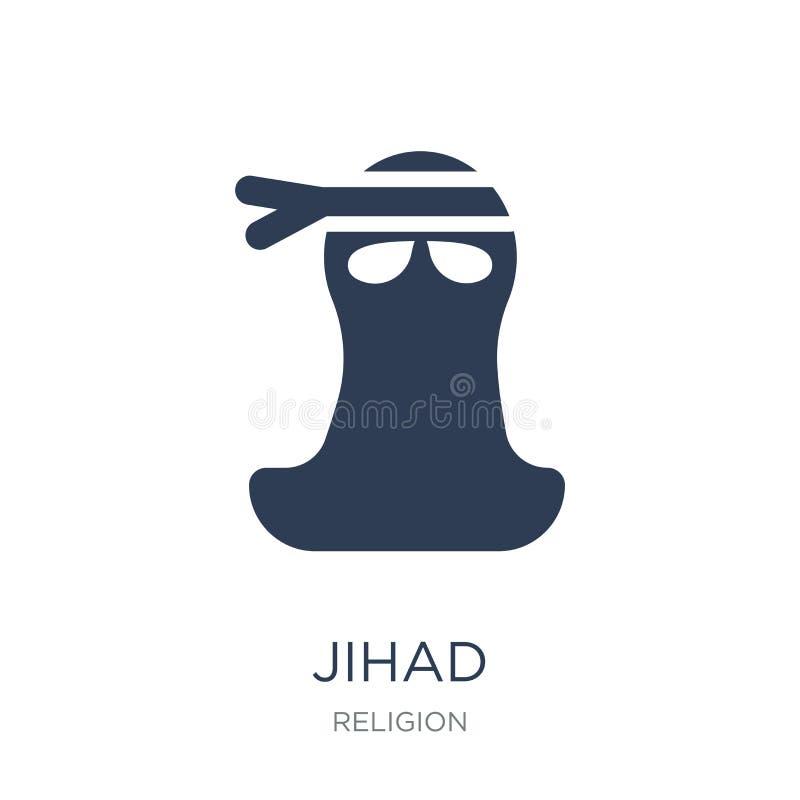 icono del Jihad Icono plano de moda del Jihad del vector en el fondo blanco franco ilustración del vector