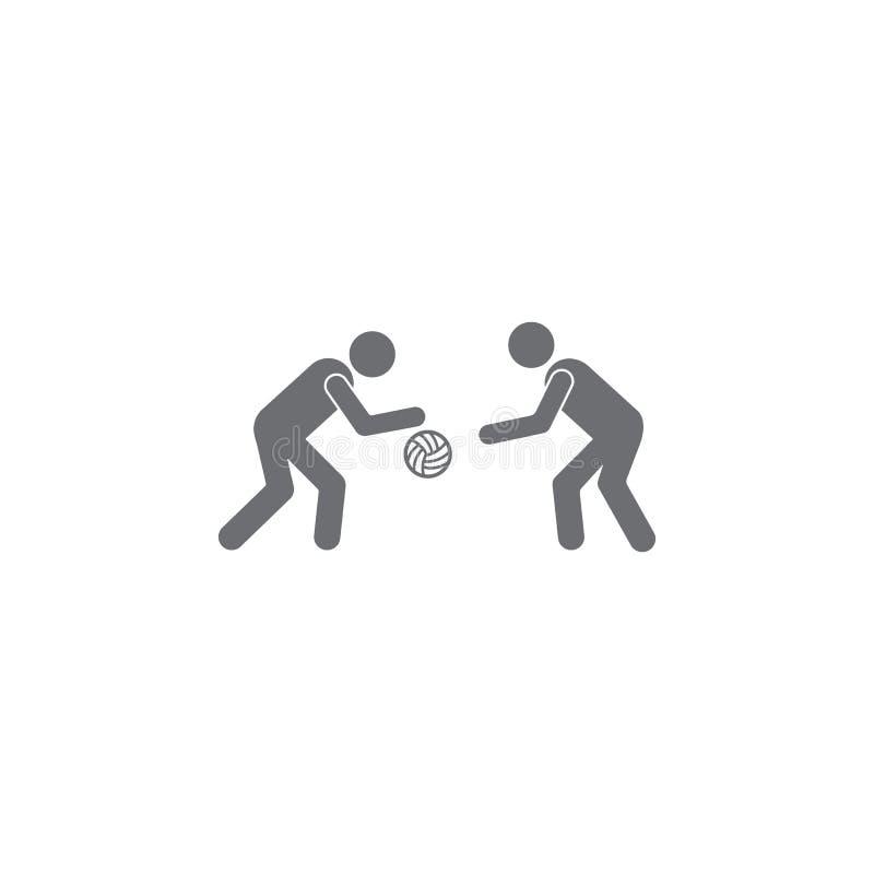 icono del juego de pelota Ejemplo simple del elemento plantilla del diseño del símbolo del juego de pelota Puede ser utilizado pa ilustración del vector