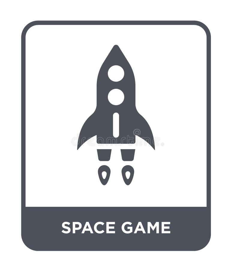 icono del juego del espacio en estilo de moda del diseño icono del juego del espacio aislado en el fondo blanco icono del vector  libre illustration