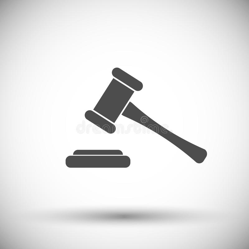 Icono del juez del martillo ilustración del vector
