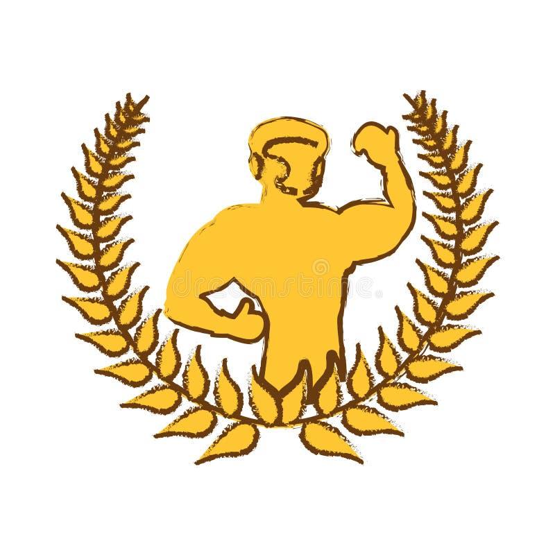 Icono del jugador del boxeo ilustración del vector