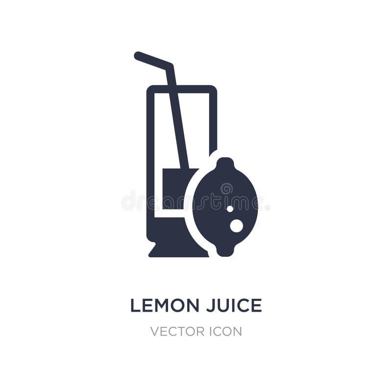 icono del jugo de limón en el fondo blanco Ejemplo simple del elemento del concepto de las bebidas libre illustration