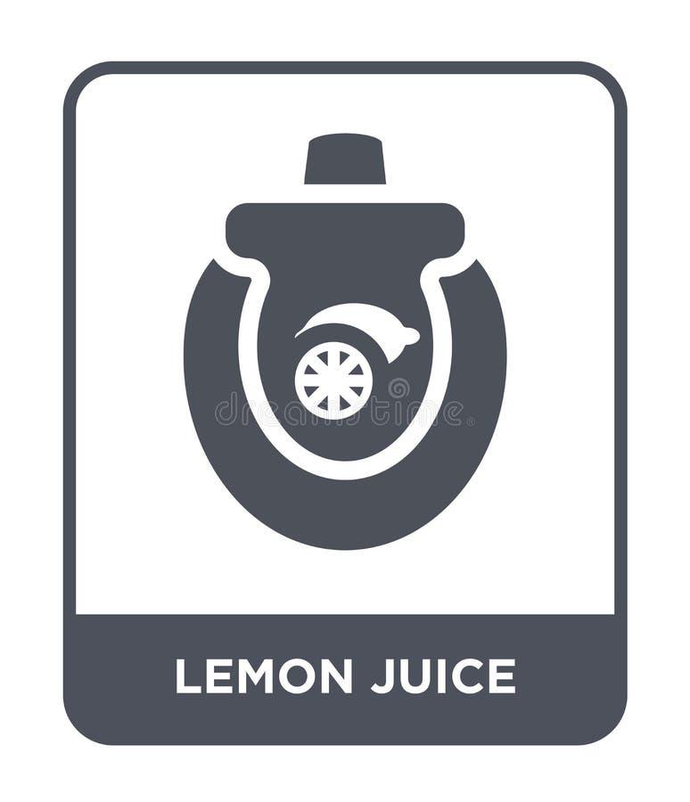 icono del jugo de limón en estilo de moda del diseño icono del jugo de limón aislado en el fondo blanco icono del vector del jugo stock de ilustración