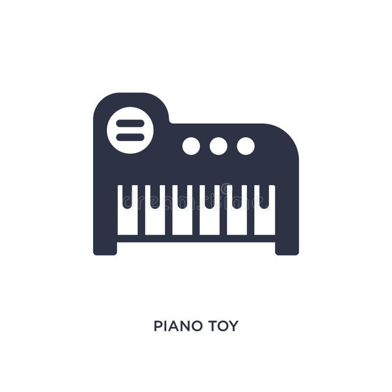 icono del juguete del piano en el fondo blanco Ejemplo simple del elemento del concepto de los juguetes ilustración del vector