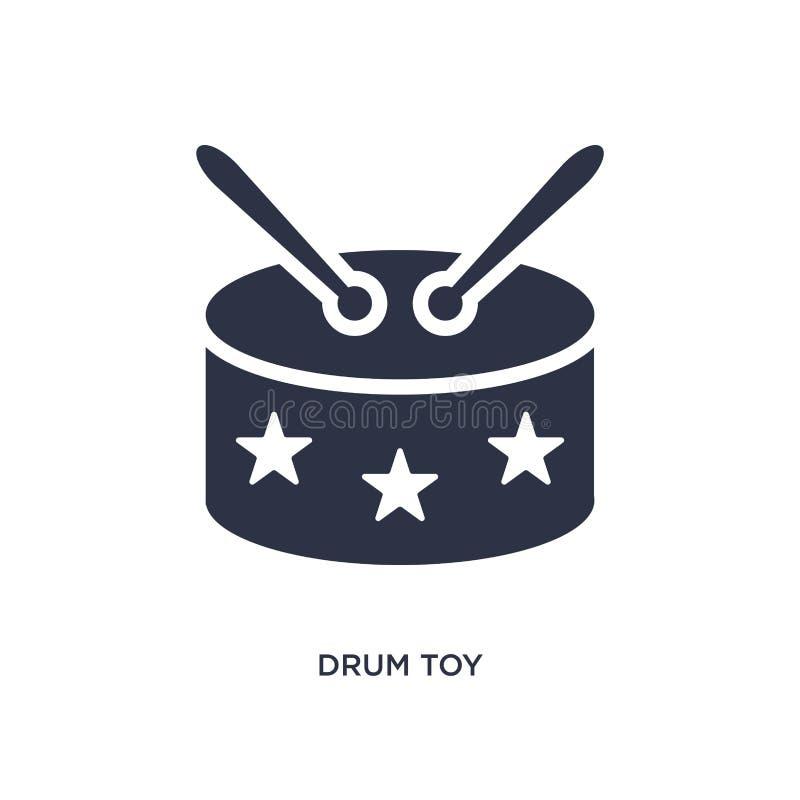 icono del juguete del tambor en el fondo blanco Ejemplo simple del elemento del concepto de los juguetes libre illustration