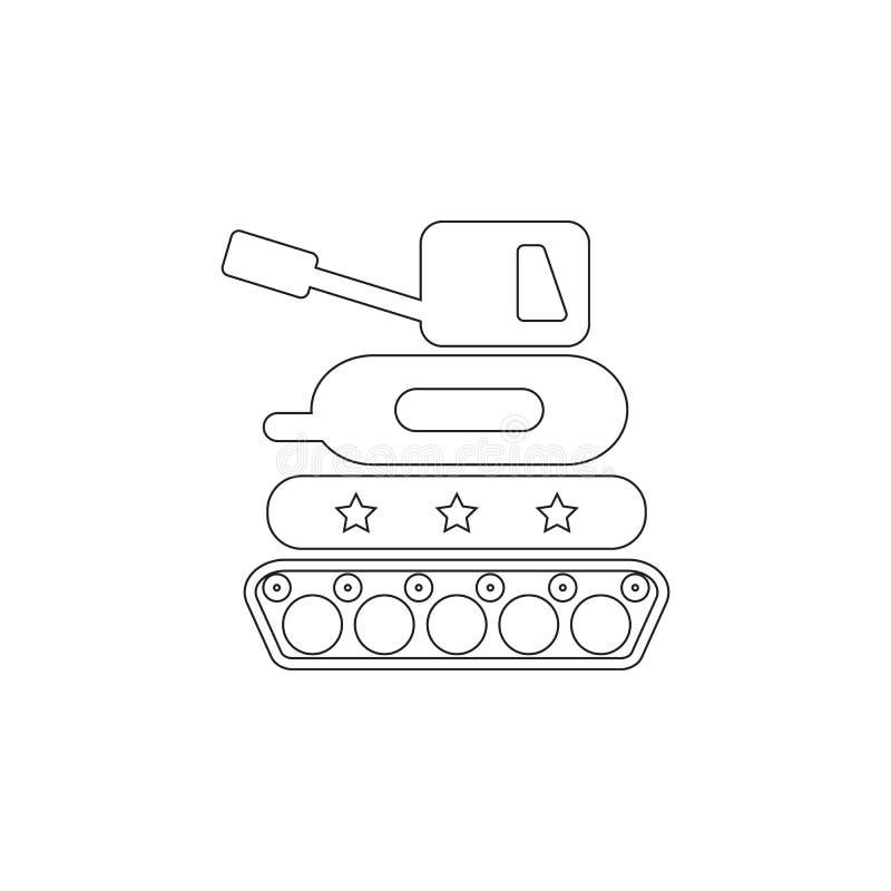 Icono del juguete del tanque Icono del elemento del juguete Icono superior del diseño gráfico de la calidad El bebé firma, icono  stock de ilustración