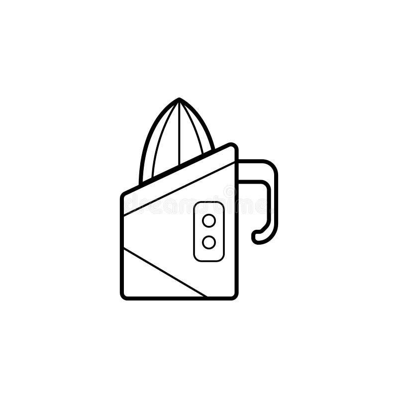 Icono del Juicer Elemento de los aparatos electrodomésticos para los apps móviles del concepto y del web Línea fina icono para el ilustración del vector