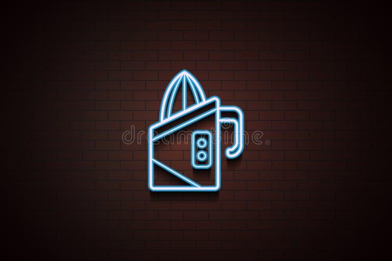 icono del juicer en el estilo de neón Uno del icono de la colección de los dispositivos se puede utilizar para UI/UX ilustración del vector