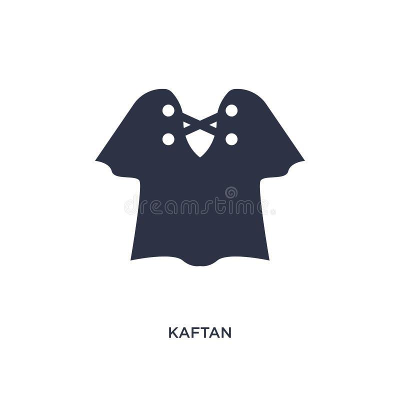 icono del kaftan en el fondo blanco Ejemplo simple del elemento del concepto de la ropa stock de ilustración
