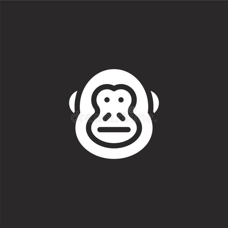 icono del kong del burro Icono llenado del kong del burro para el diseño y el móvil, desarrollo de la página web del app icono de ilustración del vector