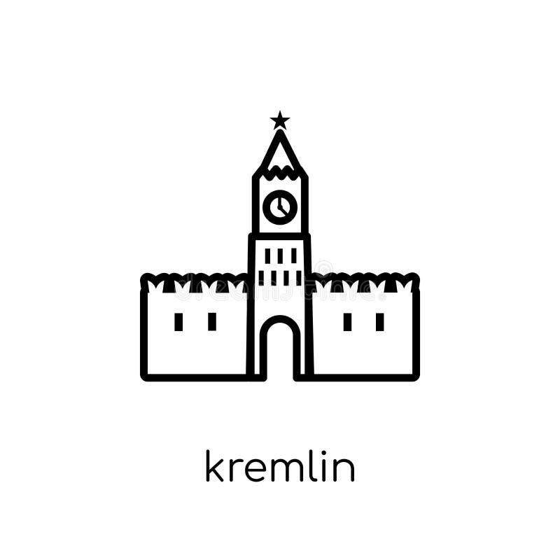 Icono del Kremlin  ilustración del vector