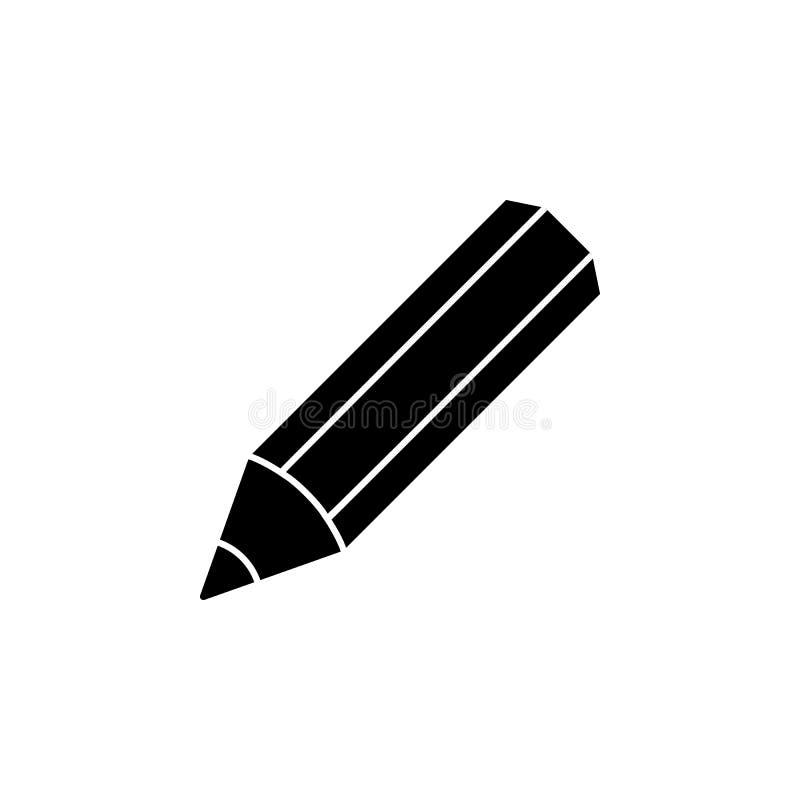 Icono del lápiz Elemento del icono minimalistic para los apps móviles del concepto y del web Muestras e icono para los sitios web libre illustration