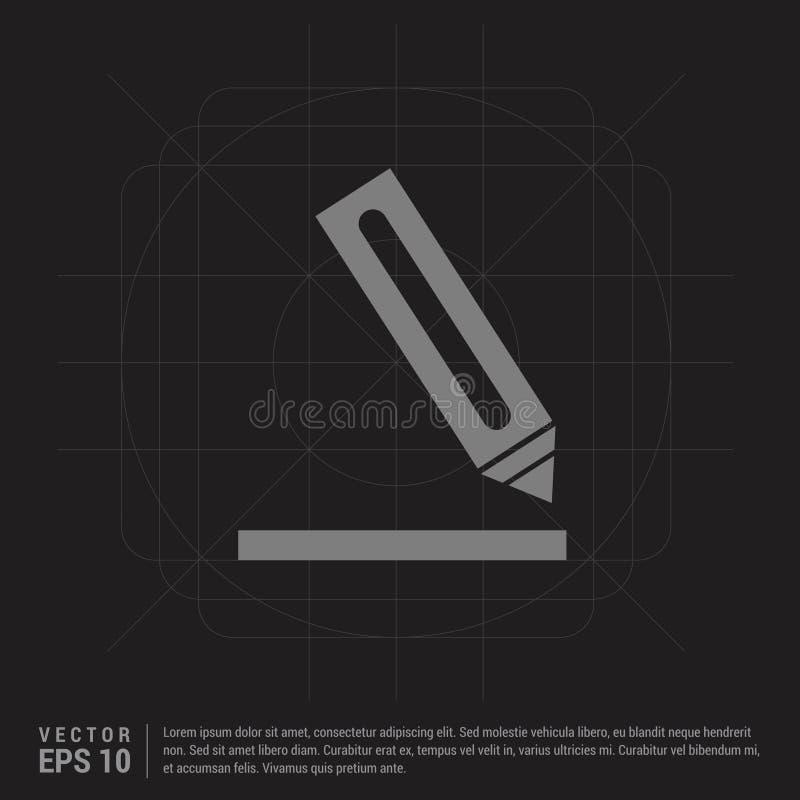 Icono del lápiz - fondo creativo negro stock de ilustración