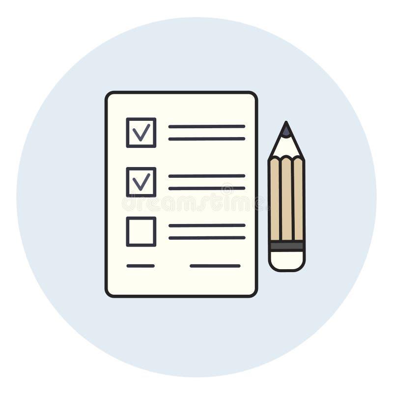Icono Del Lápiz Y Del Papel, Lista De Verificación, Prueba Del Examen  Ilustración del Vector - Ilustración de icono, lista: 93288501