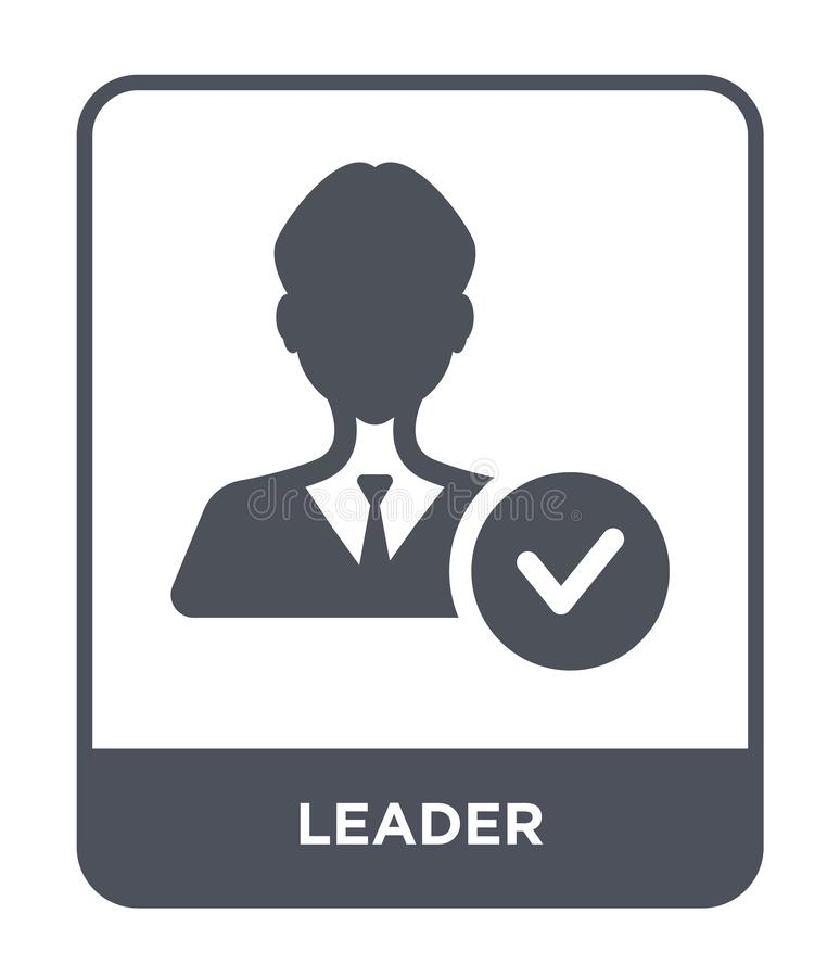 icono del líder en estilo de moda del diseño Icono del líder aislado en el fondo blanco símbolo plano simple y moderno del icono  stock de ilustración