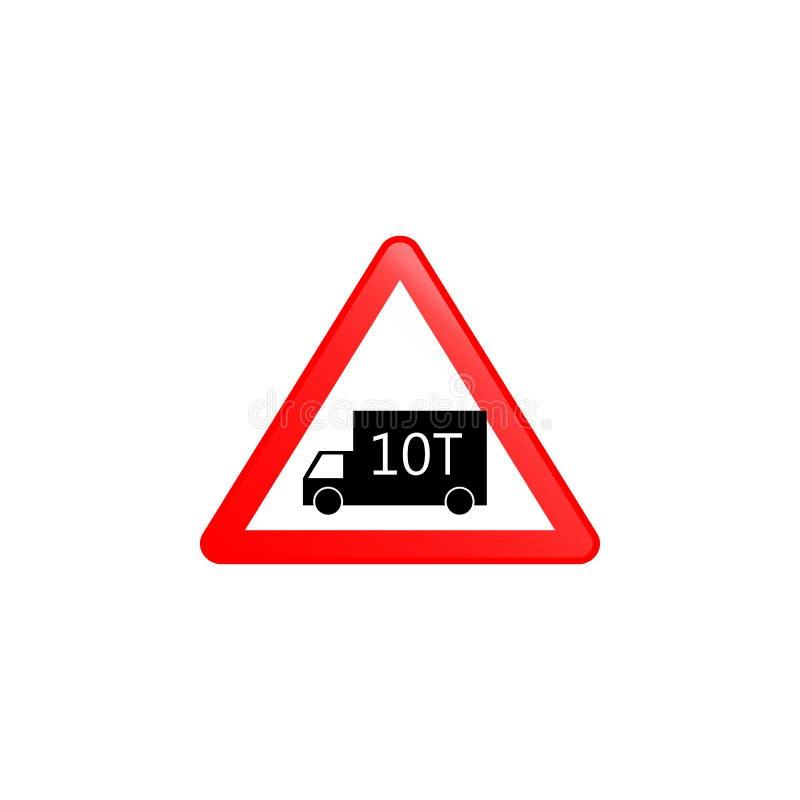Icono del límite de carga Elemento del icono de las señales de tráfico para los apps móviles del concepto y del web El icono colo stock de ilustración