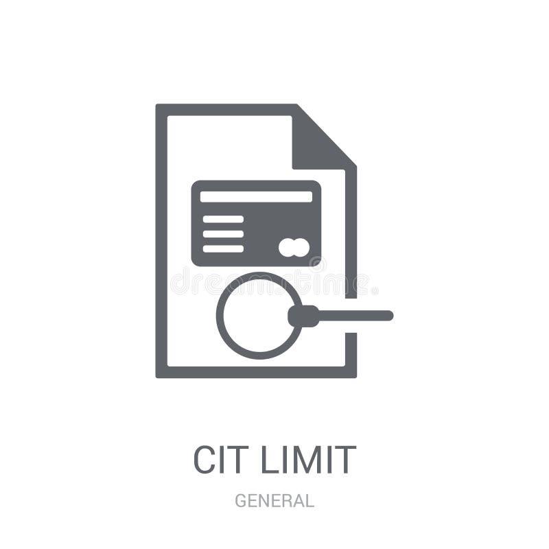 icono del límite de crédito  ilustración del vector