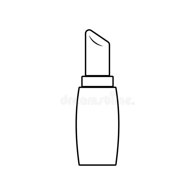 Icono del l?piz labial Elemento del sal?n de belleza para el concepto y el icono m?viles de los apps de la web Esquema, l?nea fin ilustración del vector