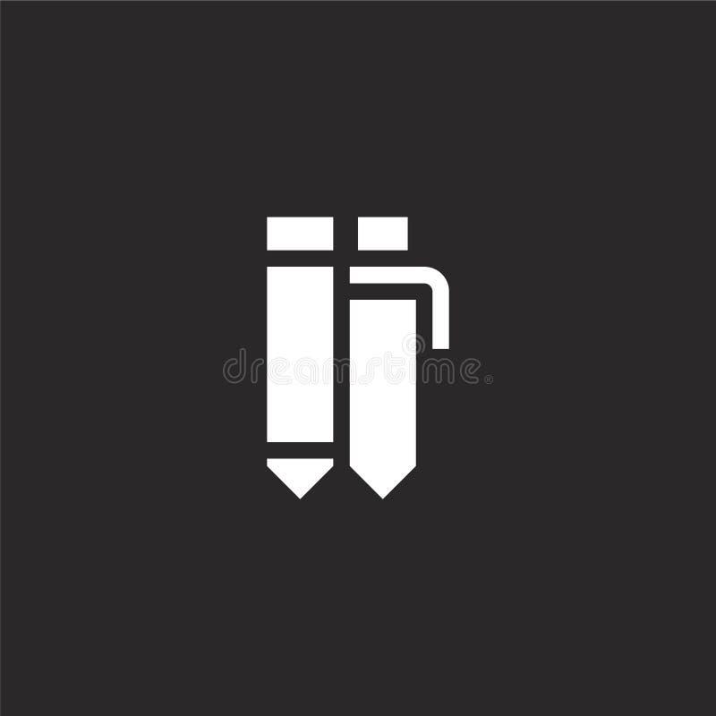 Icono del l?piz Icono llenado del lápiz para el diseño y el móvil, desarrollo de la página web del app icono del lápiz de la cole stock de ilustración
