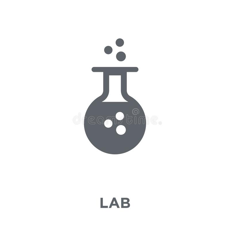 Icono del laboratorio de la colección de la ciencia libre illustration