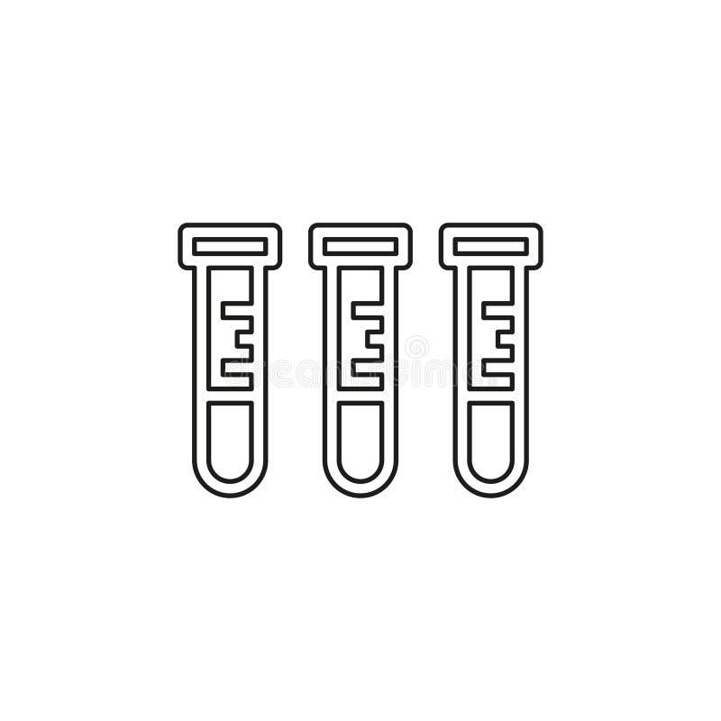 Icono del laboratorio - frasco del laboratorio del vector - qu?mica libre illustration