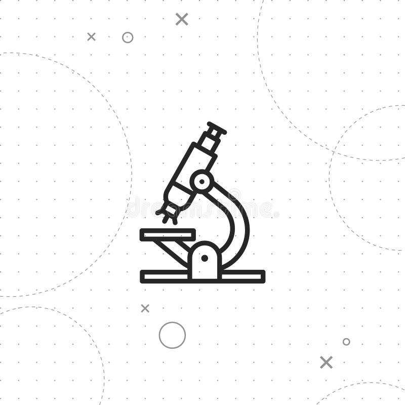 Icono del laboratorio, icono microscópico stock de ilustración