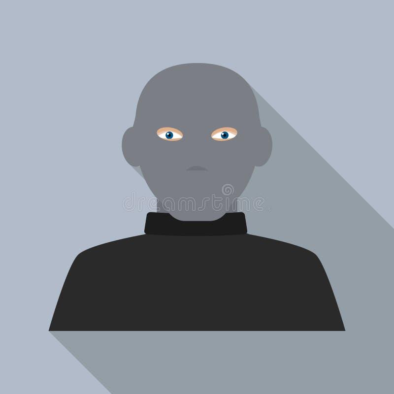Icono del ladrón de la máscara, estilo plano stock de ilustración