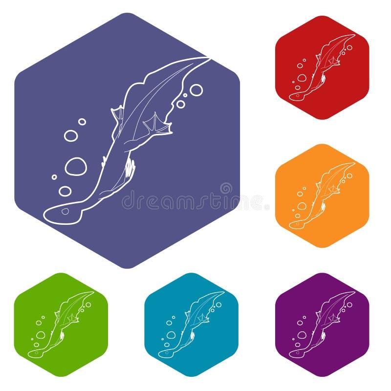 Icono del lagarto del agua, estilo del esquema ilustración del vector