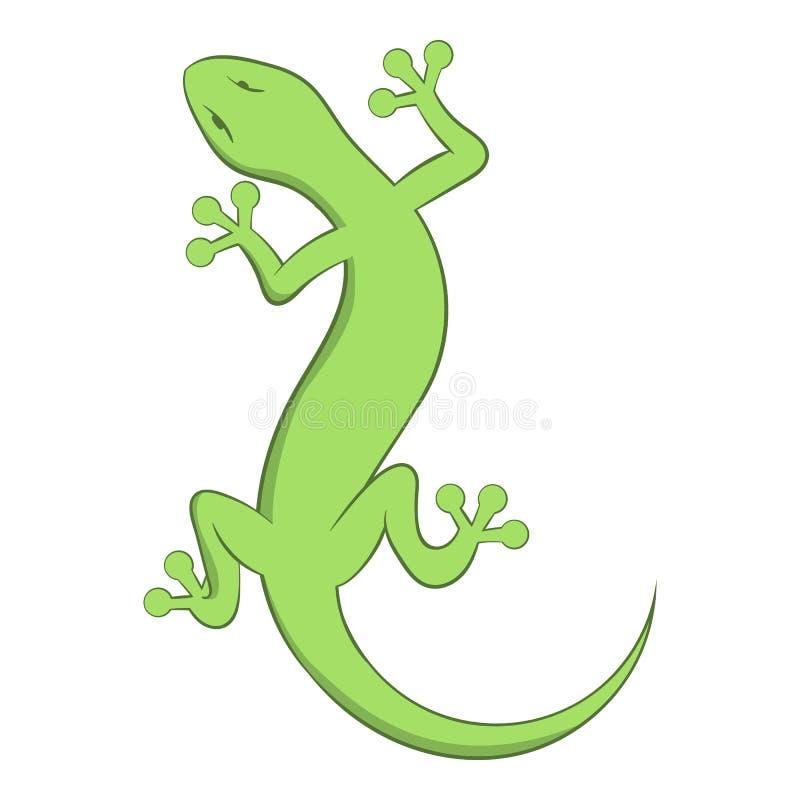 Icono del lagarto, estilo de la historieta stock de ilustración