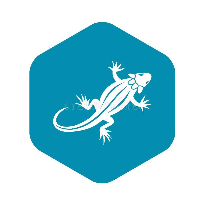Icono del lagarto, estilo simple stock de ilustración