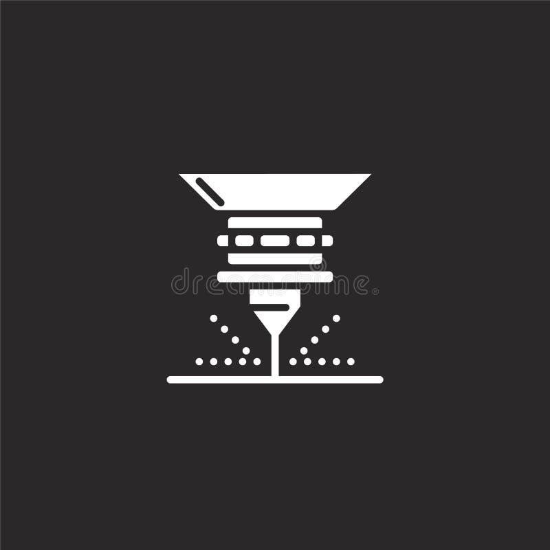 icono del laser Icono llenado del laser para el diseño y el móvil, desarrollo de la página web del app icono del laser de la cole stock de ilustración
