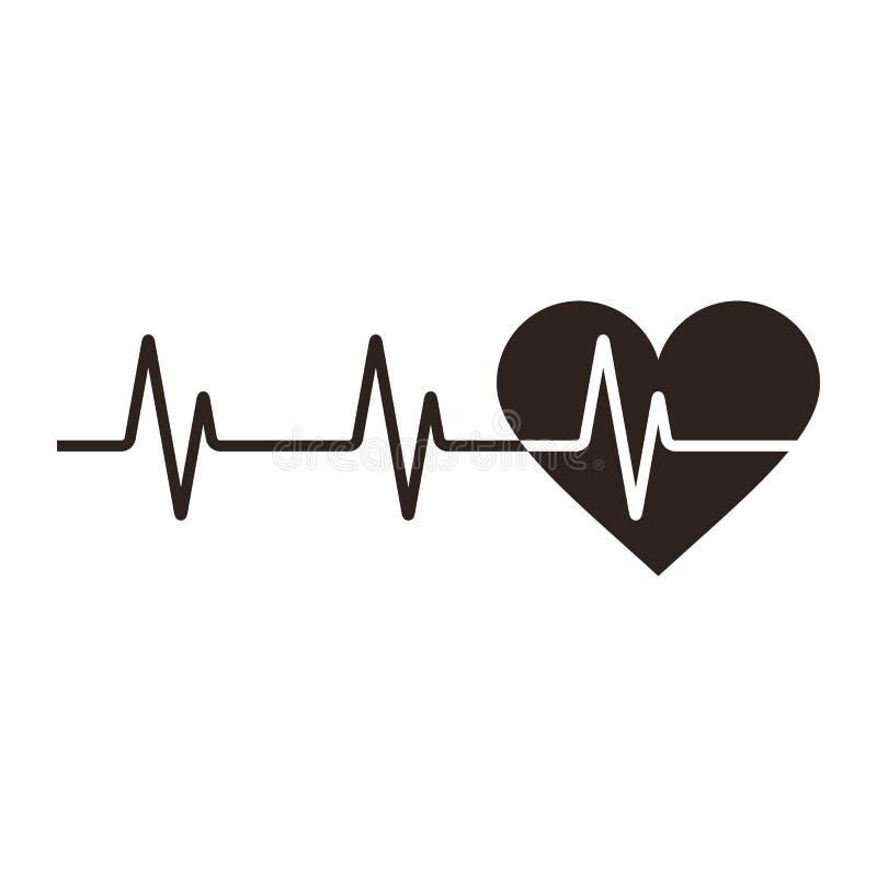 Icono del latido del corazón stock de ilustración
