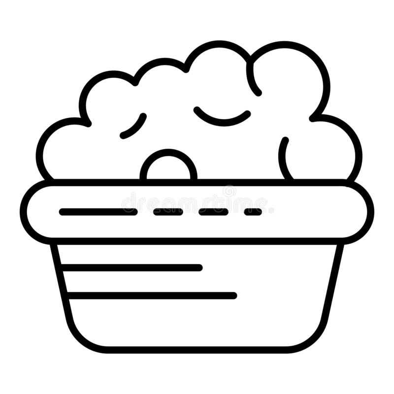 Icono del lavabo de la burbuja del lavado, estilo del esquema libre illustration